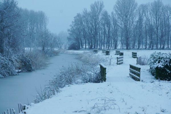 Ook Johan de Jonge maakt een mooie sneeuwfoto in de provincie Groningen.
