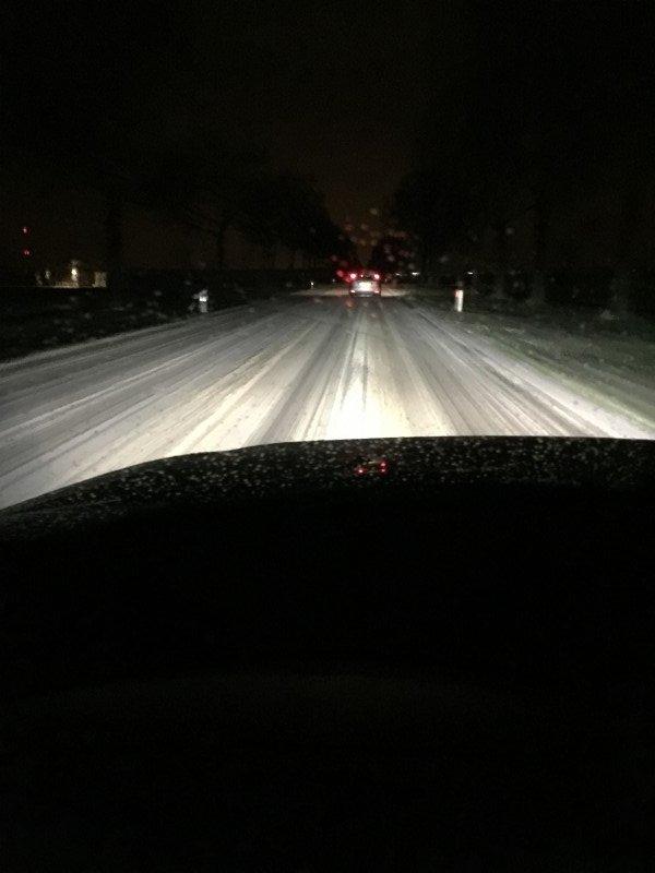 Willem-Jan Brandsma stuurde gisterochtend nog deze fraaie sneeuwfoto toe vanuit Groningen.
