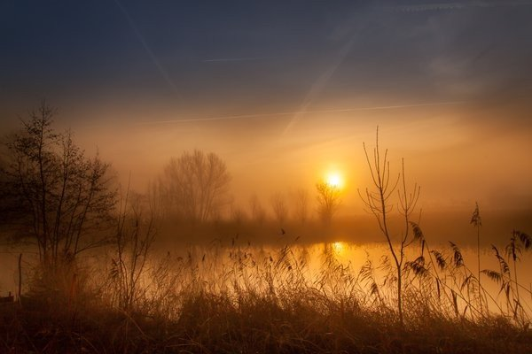 Marinus de Keijzer (@betuwefotograaf) maakte gisterochtend deze zeer fraaie zonsopkomst.