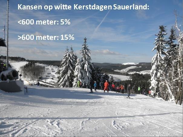 Kansen voor witte Kerstdagen voor het Sauerland. Niet bepaald hoog, maar er zijn interessante ontwikkelingen gaande die komende dagen meer duidelijkheid moeten scheppen.