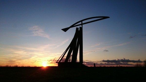 De zonsondergang was zeer fraai. Carel ten Hoor stuurde deze prachtige foto in.