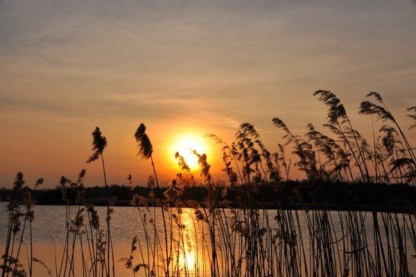 Ook Ben Saanen maakte een fraaie foto van de zonsondergang.
