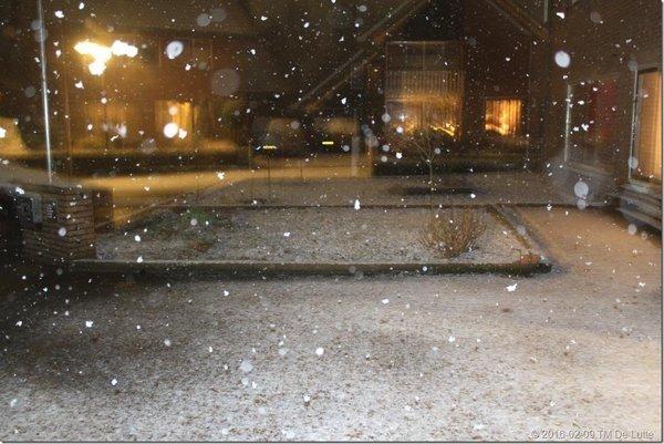 Ook sneeuw in De Lutte. Foto gemaakt door Tonny Morsink