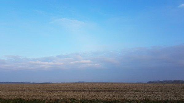 In het noordoosten klaarde het later op de dag breed op. Foto: Jannes Wiersema.