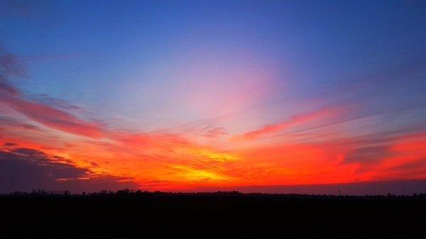 Ook Jannes Wiersema maakte een mooie foto van de zonsondergang.