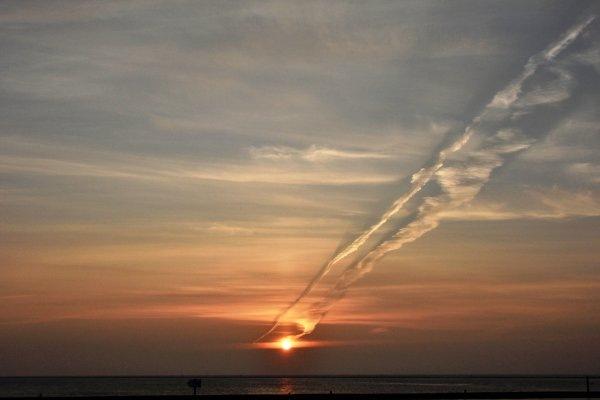 De zon kwam zeer fraai op gisteren. Deze foto werd gemaakt op Terschelling door Sytse Schoustra.