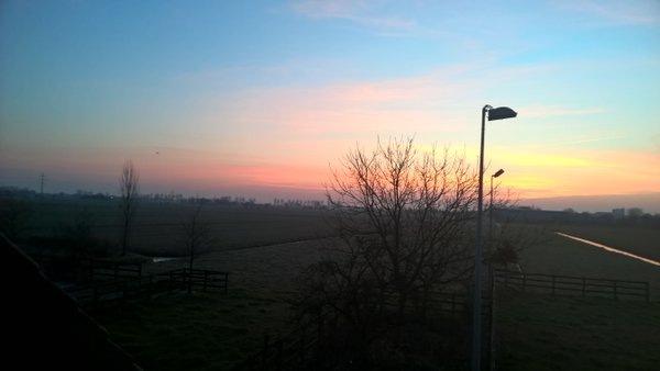 De zon kwam eigenlijk overal in het land fraai op. Deze foto is van Elske ontvangen via Twitter @ElskeKevie25