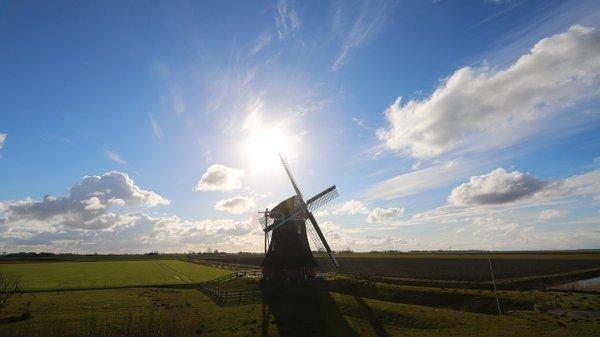 het was ook prachtig weer in het noordoosten. foto is van Jannes Wiersema.