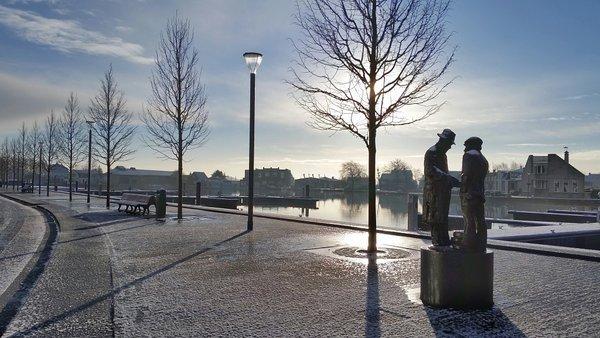 Ook in Uithoorn lag wat sneeuw. Deze fraaie foto werd gemaakt door Nicole Heij.