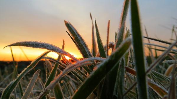 In het noordoosten begon de dag droog met zon en temperaturen iets onder het vriespunt. De foto is gemaakt door Jannes Wiersema.