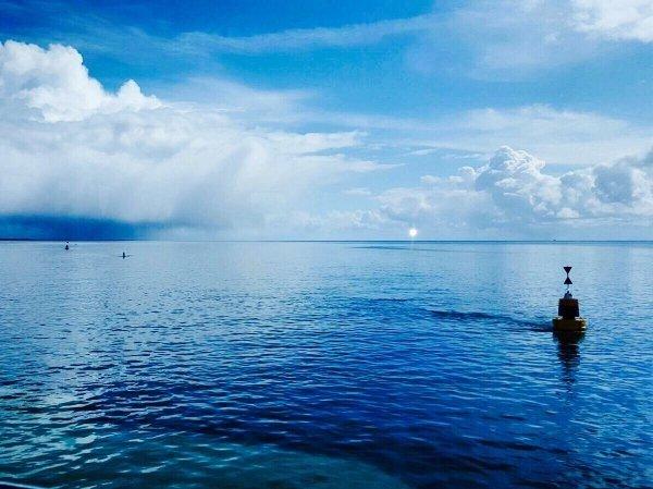 Prachtige foto van de Waddenzee in combinatie met buien. Foto gemaakt door Nicolette van Berkel.