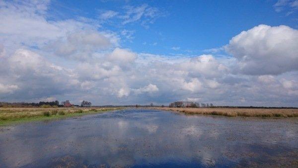 Na de buien klaarde het gisteren weer flink op. Deze fraaie foto is van Carel ten Hoor.
