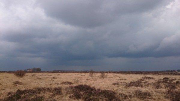 Fraaie foto van de onweersbui door Carel ten Hoor.