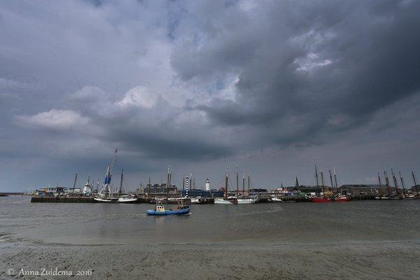 De lucht begon geleidelijk te 'werken' en was onstabiel. Foto is van Anna Zuidema.