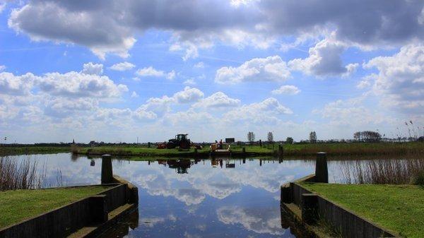 Het was gisteren ook al een prachtige dag met een afwisseling van wolkenvelden en zonneschijn. De foto werd gemaakt door Martin Vye.