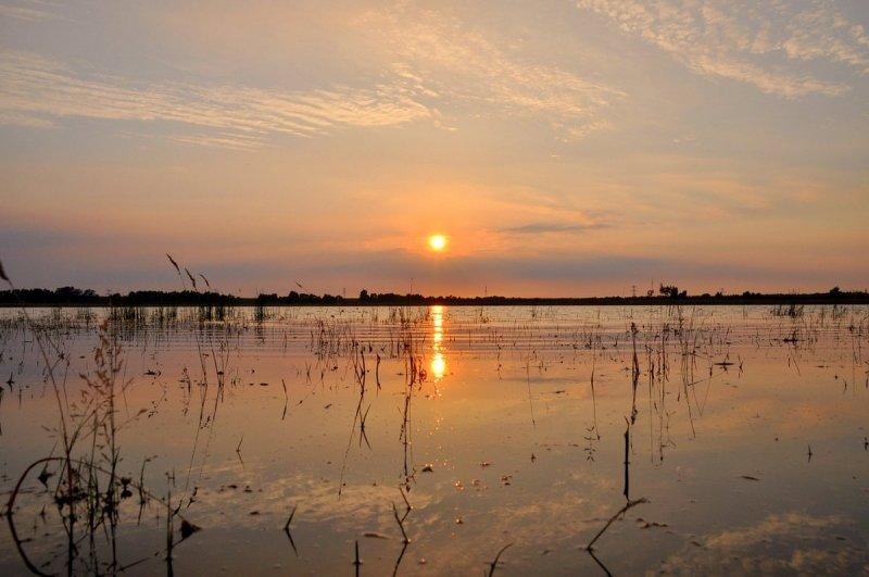 Ook een fraaie zonsondergang gefotografeerd door Ben Saanen.