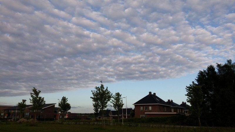 Gisteravond kwam er weer schapenwolken binnen. Ook deze foto is van Martin Vye.