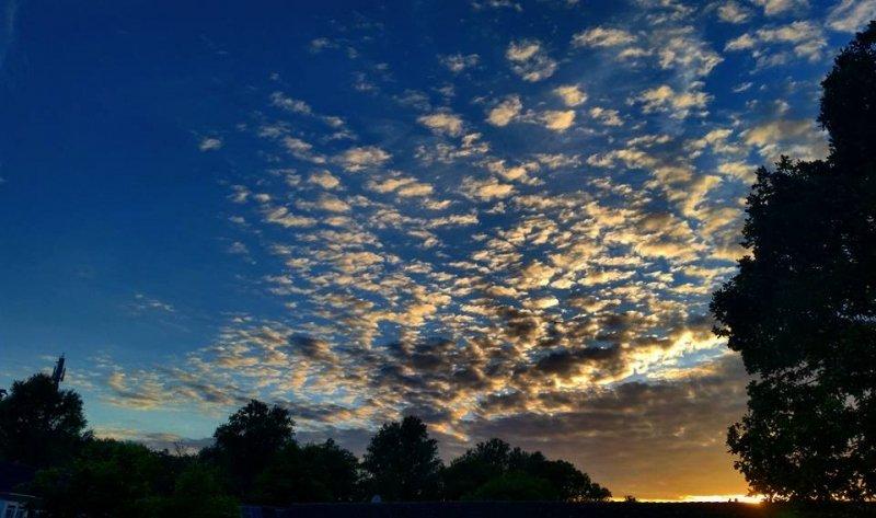 de zonsondergang was ook weer fraai. Deze foto werd gemaakt door Jeroen Bronkhorst.