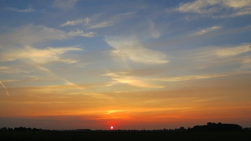 Jannes Wiersema maakte een mooie foto van de zonsondergang.