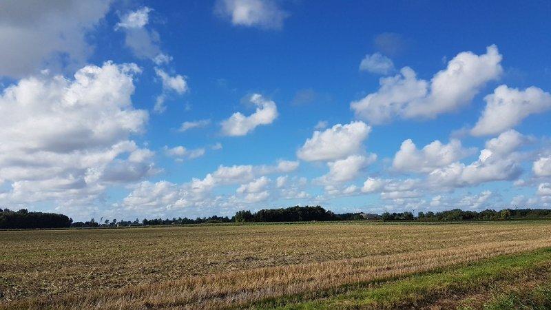 In de middag klaarde het ook in het noordoosten op. Ook deze foto is van Jannes Wiersema.