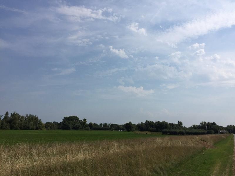 In de middag begon de lucht aan te 'werken'. De foto werd gemaakt door Arno van Brakel.