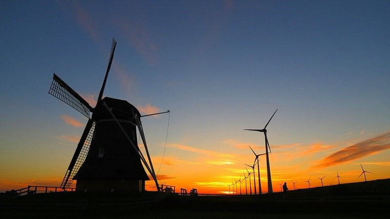 Ook Jannes Wiersema maakte een prachtige foto van de zonsondergang.