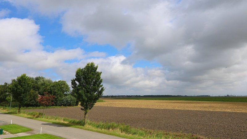 wolkenvelden, later ook opklaringen. Foto werd gemaakt door Jannes Wiersema.