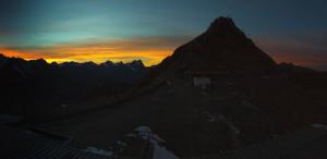 Webcam solden bij zonsondergang. Bron: bergfex.com