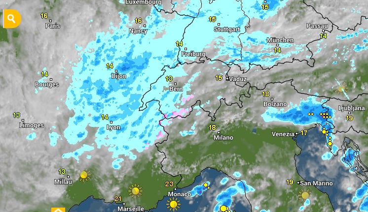 Vandaag is er nog wat lichte neerslag mogelijk. Volgende dagen wordt het droger. www.wetteronline.de