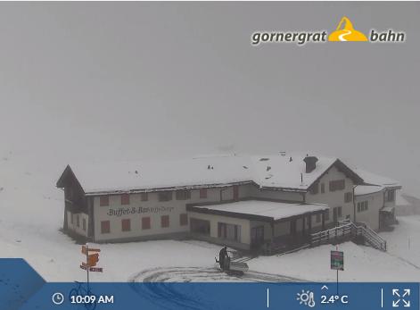 Sneeuwval in Zermatt bij Gornergrat. (www.zermatt?ch)