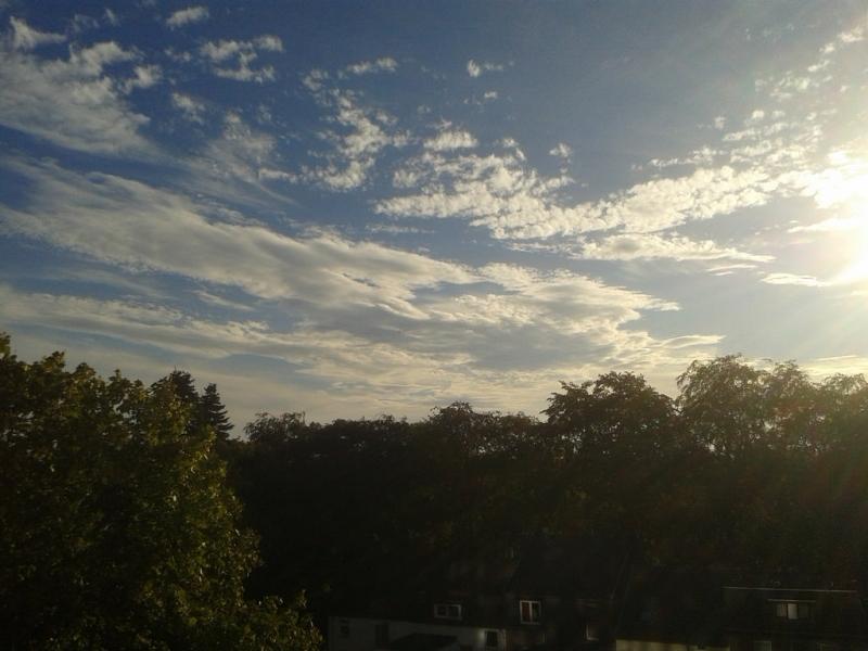 Een mix van zon en wolken. De foto werd gemaakt door: Addy Wings Scheper