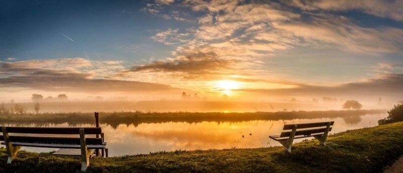 Een prachtige foto van een prachtige zonsopkomst. De foto werd gemaakt door Marinus de Keijzer (@betuwefotograaf)