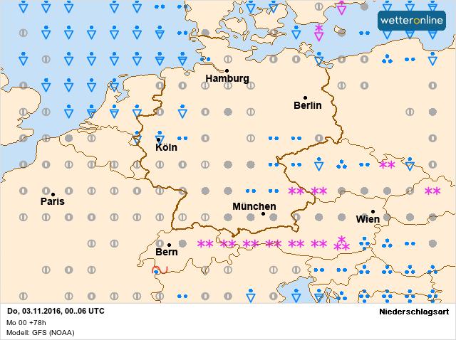 Ook donderdag kan er in een licht onstabiel regime nog wat lichte sneeuw vallen in het oosten. Bron: wetteronline.de