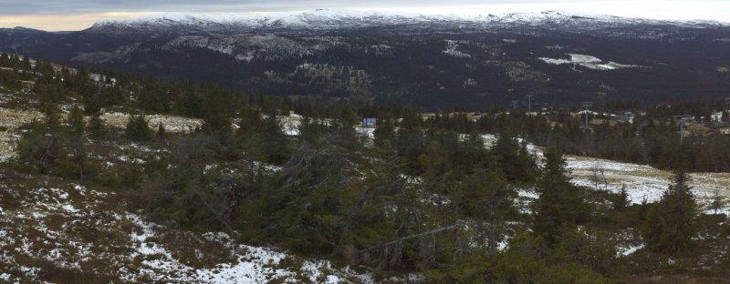 Het landschap oogt lokaal toch al winters in de Noorse bergen. Bron: http://kvitfjell.roundshot.com/kvitfjell-express/