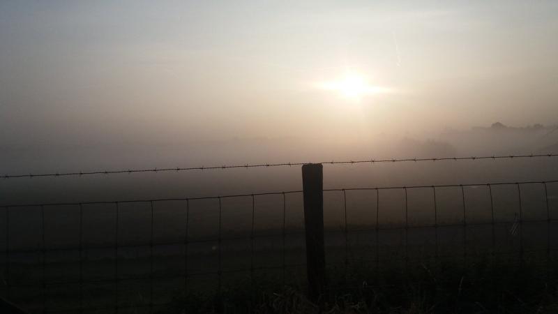 We begonnen met mist. Deze foto werd gemaakt door Ricardo de Vries.