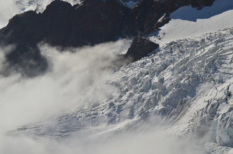 De Garstelet gletsjer is een mooi oefenterrein voor reddingstechnieken