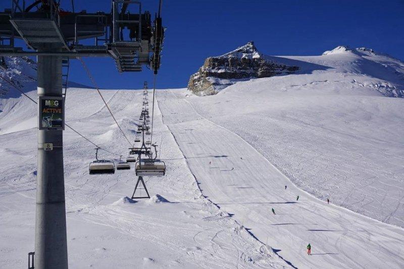 Schitterende condities op de gletsjer in Zermatt. Bron: Matterhorn Chalets @M_Horn_Chalets