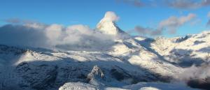 Heerlijk opstaan nabij de Matterhorn deze ochtend. Bron: twitter Zermatt