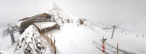 Verse sneeuw bovenaan Alpe D'Huez.
