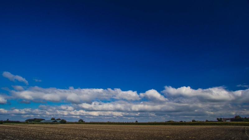 In de middag scheen gisteren de zon flink. De foto werd gemaakt door Ab Donker.