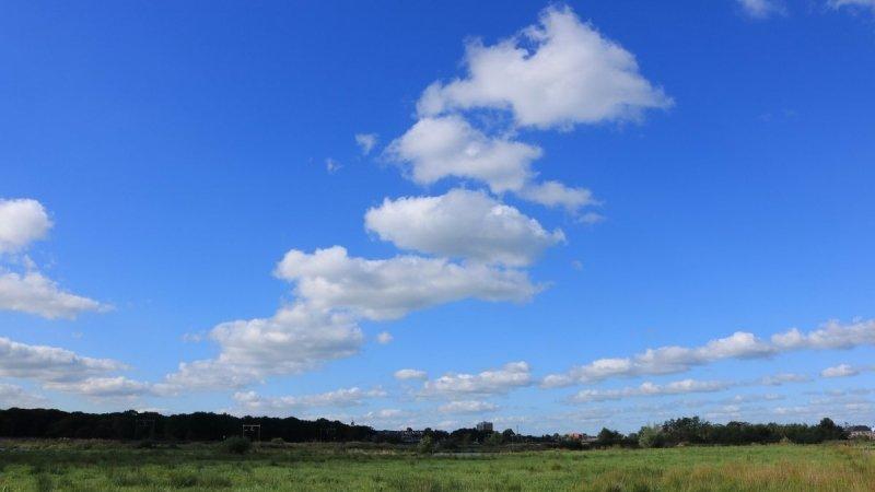 Flinke zonnige perioden in het noorden van het land. De foto werd gemaakt door Martin Vye.