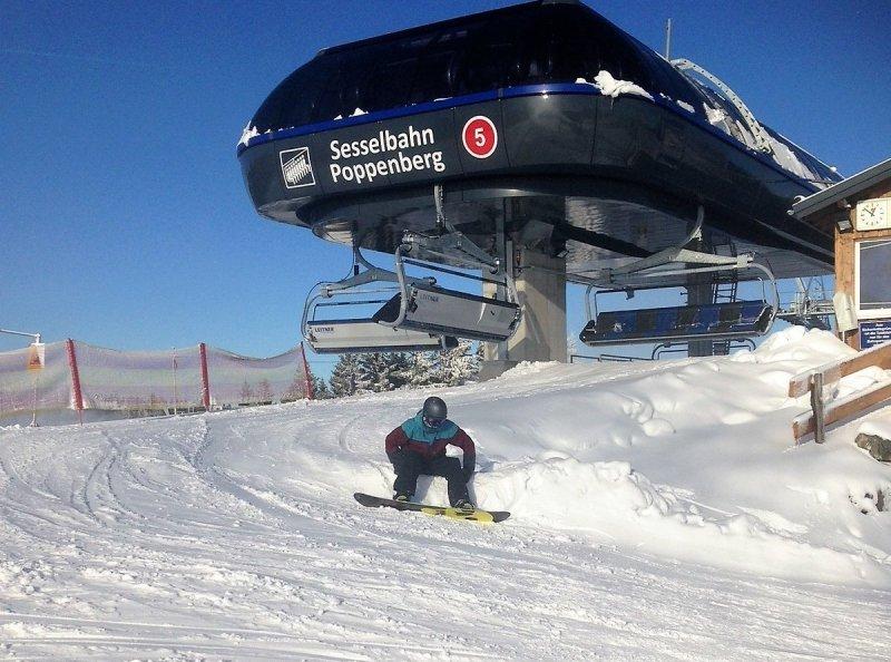Afgelopen week kon er dus ook al in Winterberg geskied worden. Foto is van dinsdag. Bron: Gasthofwestfeld