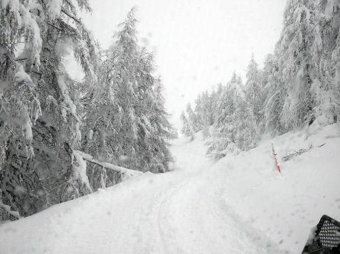 Jafferau ontwaak eveneens met een pak sneeuw. Bron: twitter Alpenweerman