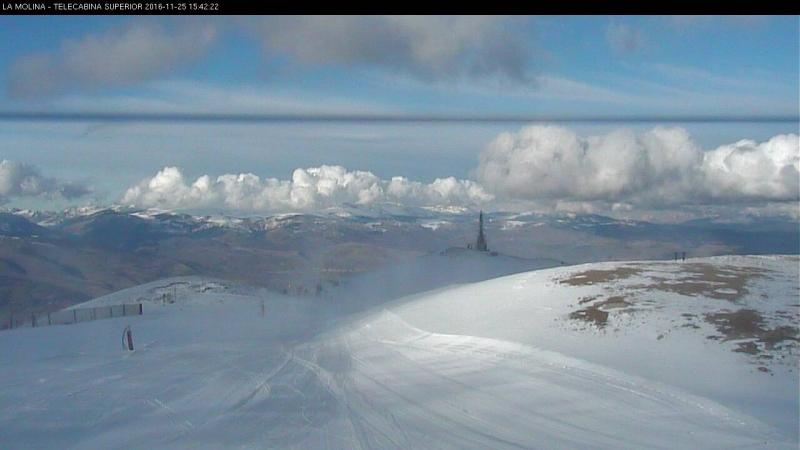 Webcam La Molina in de Pyreneeën. Bron: bergfex.at