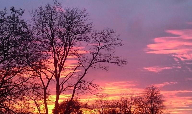 Ook Carel ten Hoor maakte een schitterende foto van de zonsondergang.