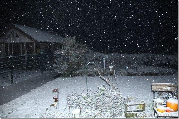 Ook in Twente was het in de nacht van 8 op 9 november even wit. Bron: Jan Visser via Twitter.