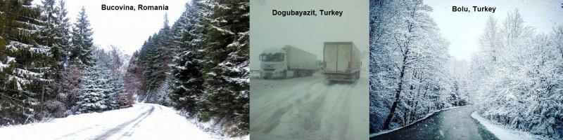 In verschillende Oost-Europese landen viel er de afgelopen al sneeuw bij een eerste serieuze winterinval. Bron: severe weather Europe