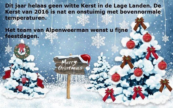 dit jaar geen witte Kerst in de Lage Landen.