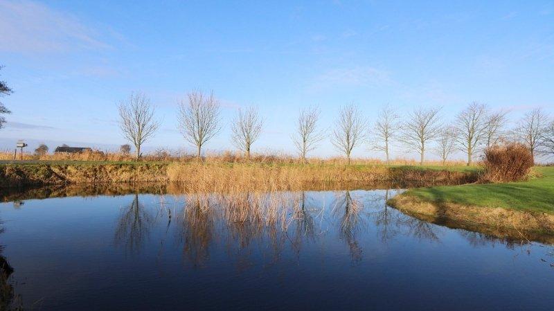 in het noorden van het land scheen de zon flink en dat was goed zichtbaar op deze foto van Jannes Wiersema.