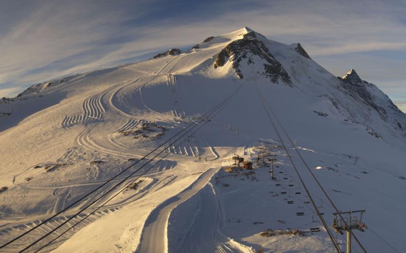 Weinig volk, perfecte sneeuw en veel zon. Meer heb je niet nodig in Tignes! Bron: http://en.tignes.net/webcams